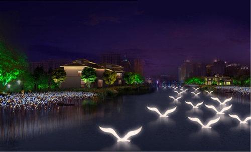 城市亮化景观灯照明实拍图2