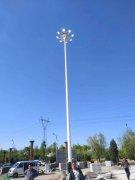 河北省迁西县25米高杆灯照明