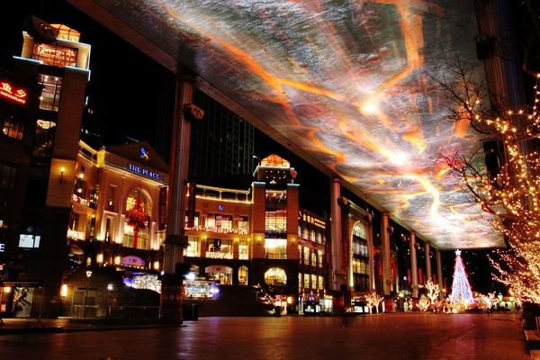 北京世贸天阶亮化工程赏析