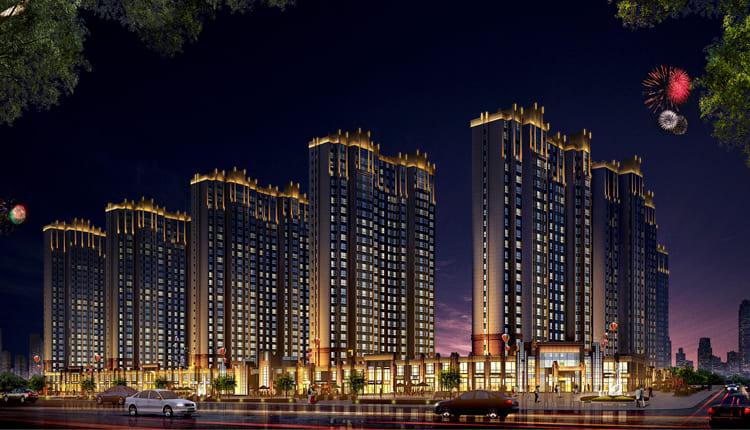 天津美的城亮化工程实拍图2