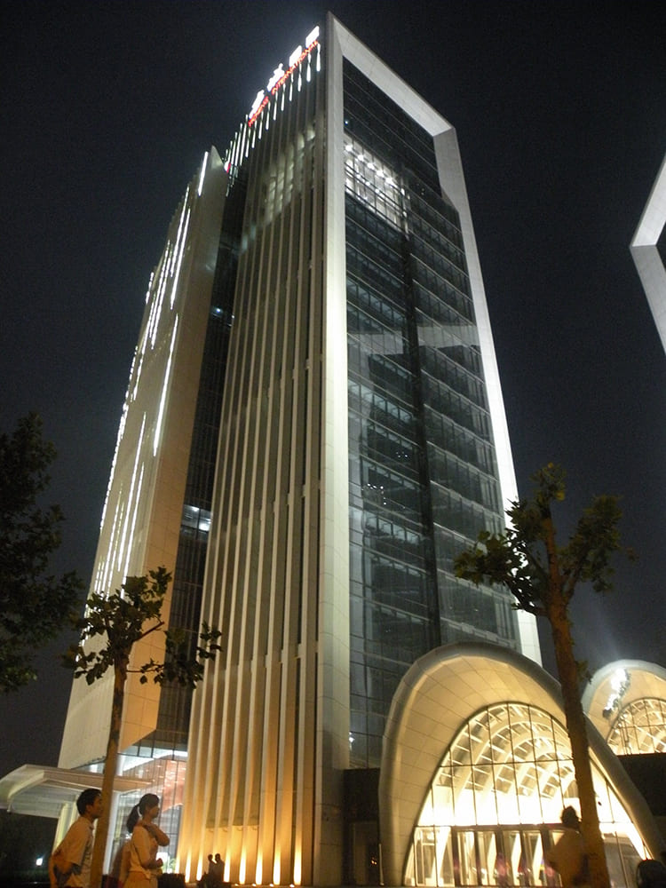 北京亦城国际中心亮化工程实拍图3