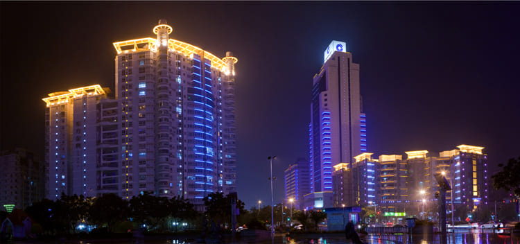 北京中国农机院亮化工程夜景图2