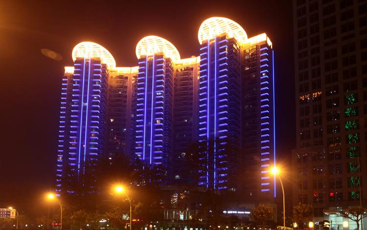 北京中国农机院亮化工程夜景图3