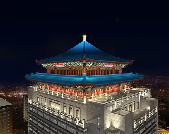 北京广安门医院亮化工程实景2