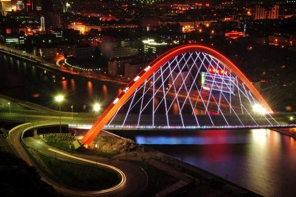 张家口通泰大桥夜景效果图