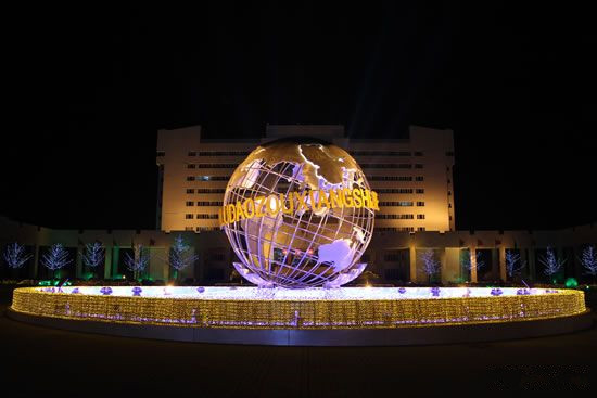 葫芦岛市政府夜景亮化工程实景图2