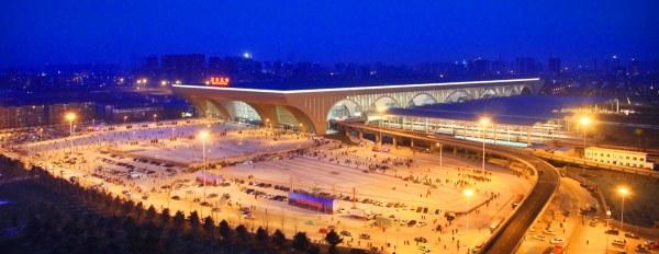 石家庄火车站亮化工程俯视图