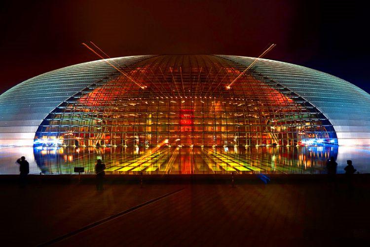 北京国家大剧院亮化工程夜景图