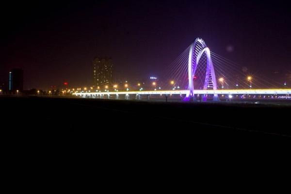 锦州云飞大桥夜景亮化图