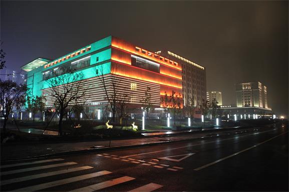 北京平谷万德福商业广场亮化工程夜景图2