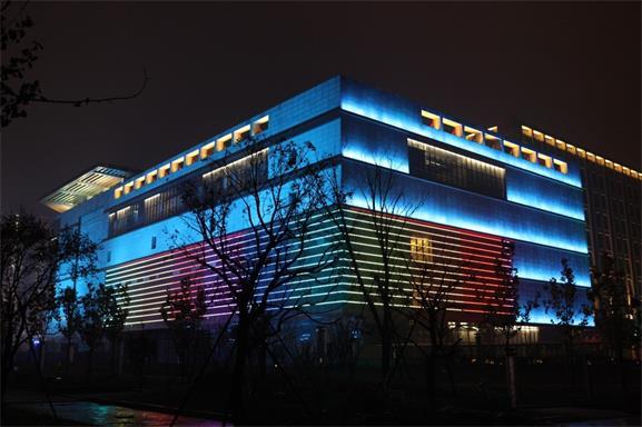 北京平谷万德福商业广场亮化工程夜景图3