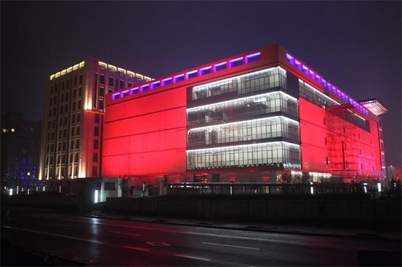 北京平谷万德福商业广场亮化工程夜景图4