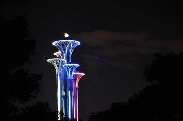 北京奥林匹克公园夜景亮化