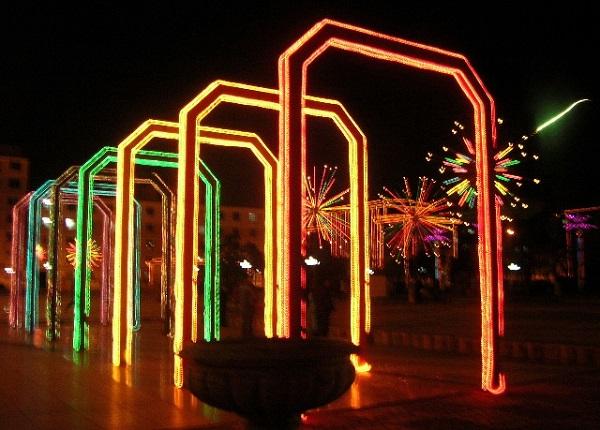 锦州宝石广场夜景亮化
