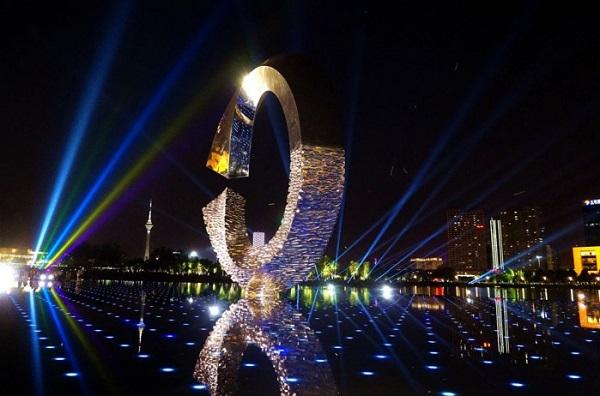 天津文化中心亮化工程夜景