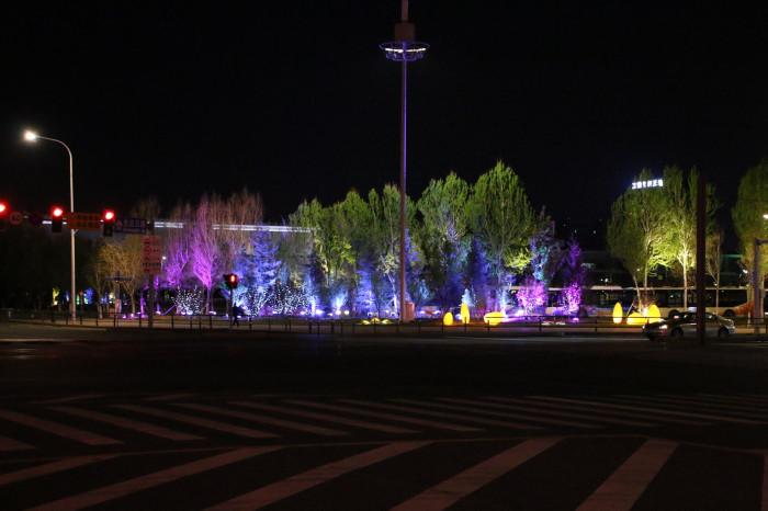 沈阳浑南大学城景观亮化工程夜景图1