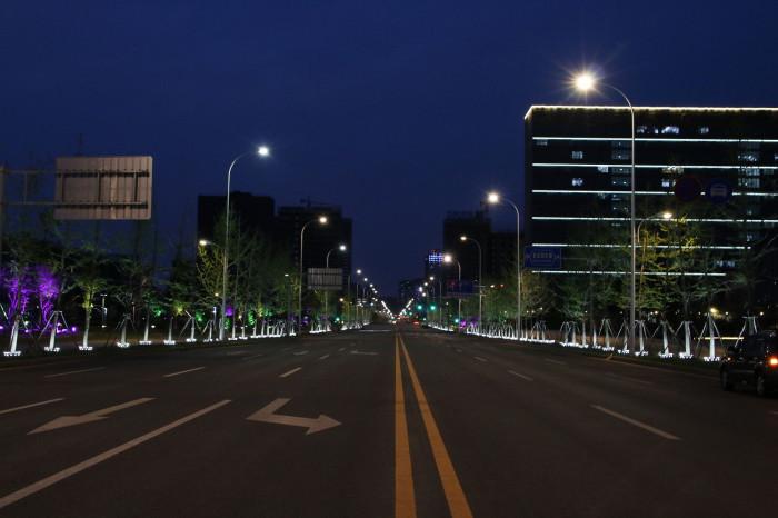 沈阳浑南大学城景观亮化工程夜景图2