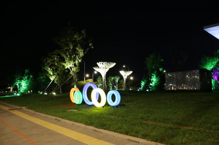 沈阳浑南大学城景观亮化工程夜景图3