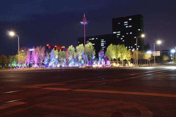 沈阳浑南大学城景观亮化工程夜景图4