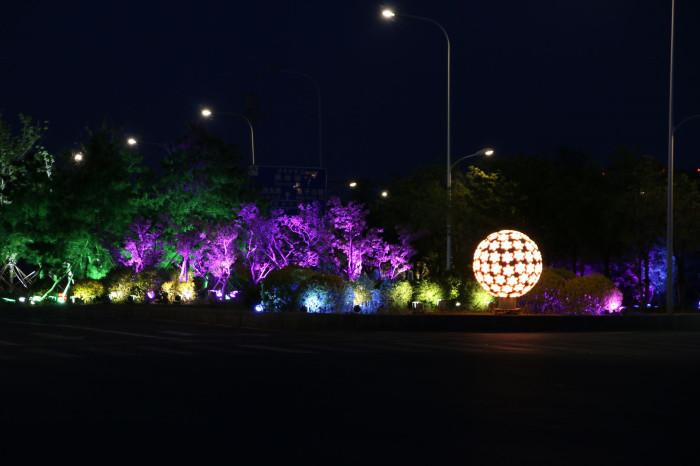 沈阳浑南大学城景观亮化工程夜景图5