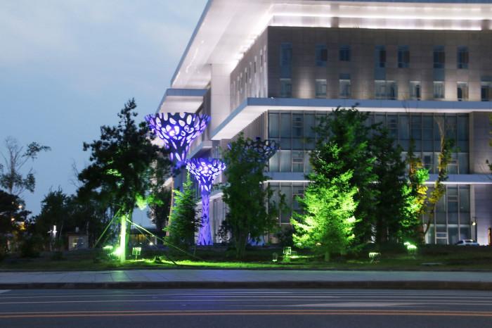 沈阳浑南大学城景观亮化工程夜景图6