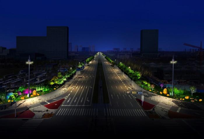 沈阳浑南大学城景观亮化工程夜景图7