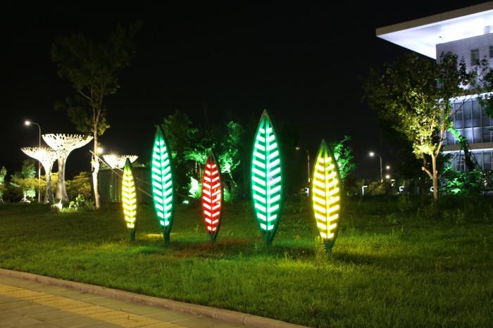 沈阳浑南大学城景观亮化工程夜景图8