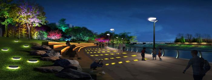 沈阳浑南大学城景观亮化工程夜景图10