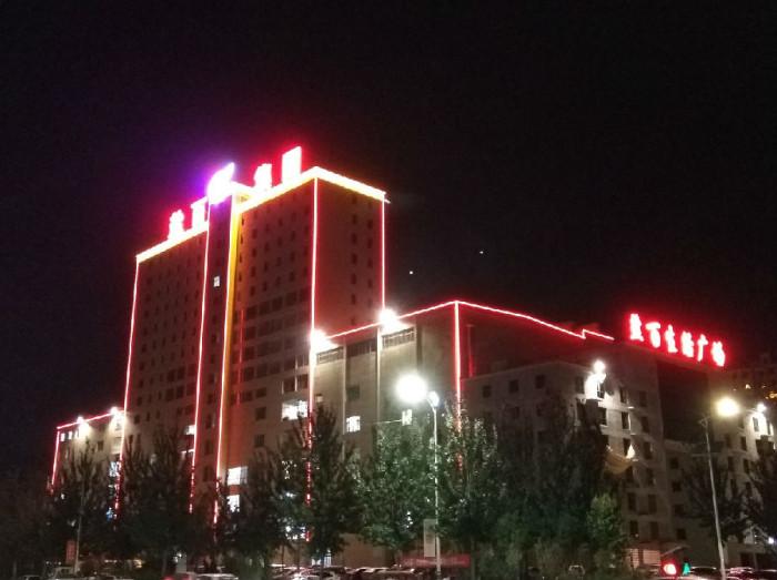 盐百生活广场亮化工程夜景图4