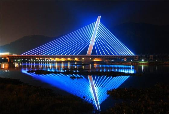 天津河北大街立交桥亮化工程夜景图1