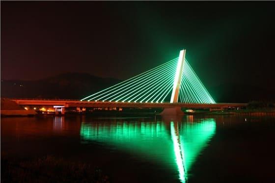 天津河北大街立交桥亮化工程夜景图3