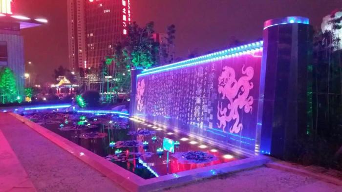 临沂书圣国际文化城亮化工程夜景图2