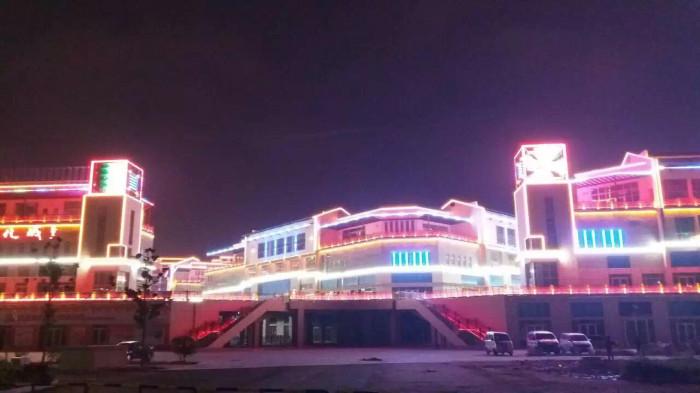 临沂书圣国际文化城亮化工程夜景图4