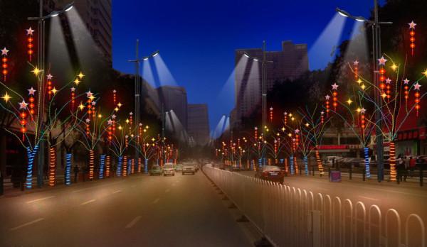 城市亮化夜景图
