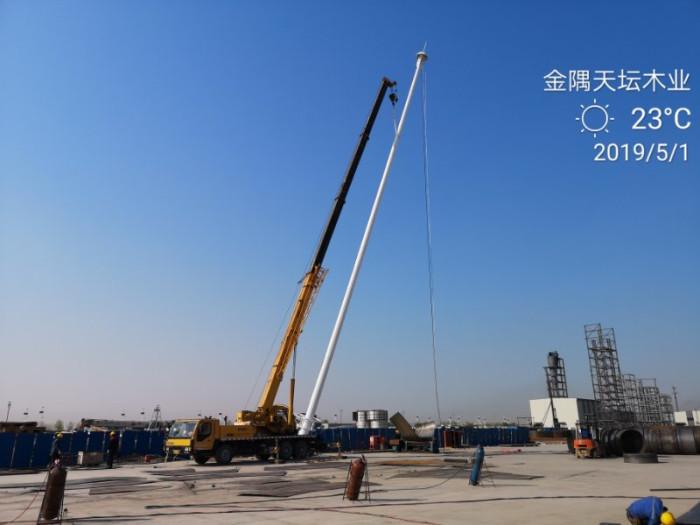 金隅天坛(唐山)木业厂区35米高杆灯照明工程现场施工图