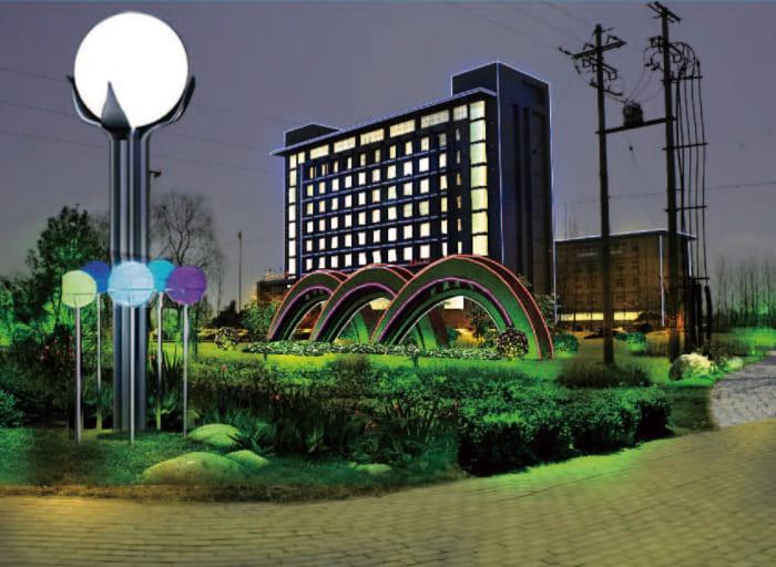 沧州献县景观亮化工程夜景图1
