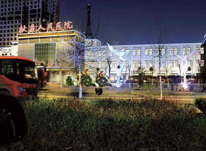 沧州献县景观亮化工程夜景图3