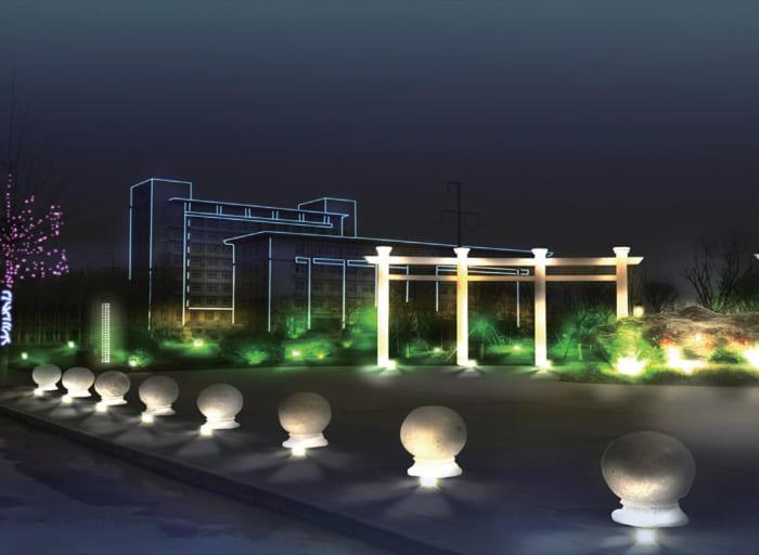 沧州献县景观亮化工程夜景图5