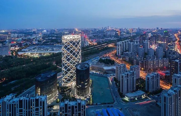 北京保利国际广场亮化工程夜景图1