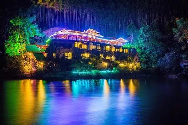 北京市公园景观亮化夜景图2