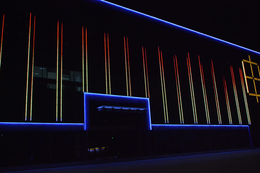 邢衡高速管理处亮化工程夜景图2