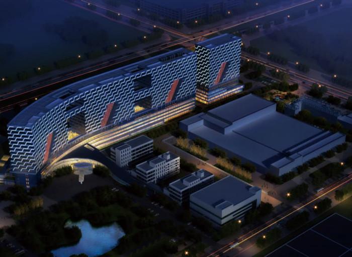 石药集团抗肿瘤高科技产业园亮化工程夜景图1