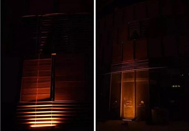 选择建筑不同位置照明的效果差异