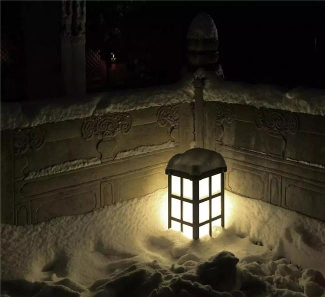 古寺雪景光源选择方法