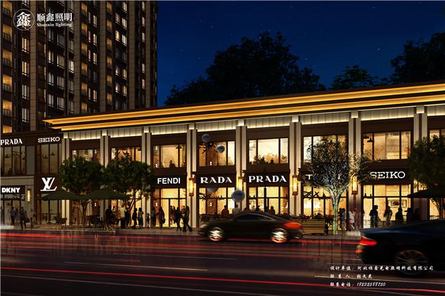 中国铁建唐颂国际商业楼亮化工程