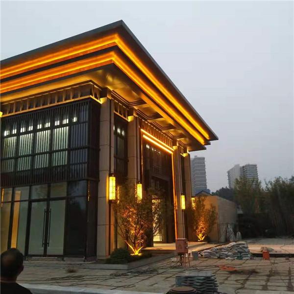 中国铁建唐颂国际商业楼实景亮化效果