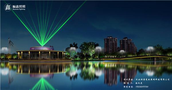 迁安市黄台山公园景观亮化设计