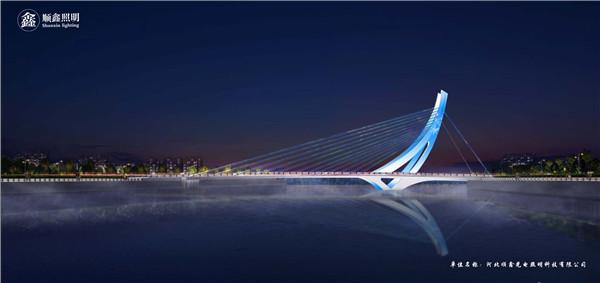 张家口纬二桥夜景照明及道路照明vwin德赢中国